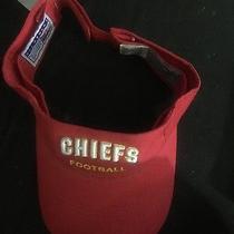 Kansas City Chiefs Nfl Adult Preshape Sun Visor Adj Velcro New Hat by Reebok C45 Photo
