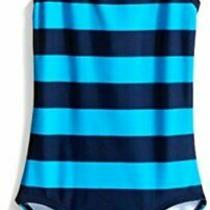 Kanu Surf Big Girls' Layla Beach Sport Banded One Piece Swimsuit Blue Size 14 Photo