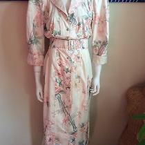 Karen Alexander Vintage 100% Cotton Blush Floral Print Mermaid Dress Size 6 Photo