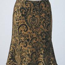 Karen Kane Brown & Black Chenille Fluted Skirt Sz 4 Photo