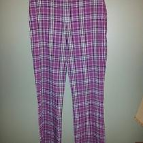Karen Kane Designer Fun Plaid Pants. Women Size 10 Photo
