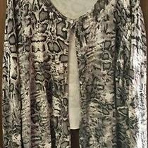 Karen Kane Gray Leopard Print Cardigan 3x - Acrylic Knit Photo