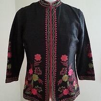 Karen Kane Lifestyle Black 100% Silk Jacket Size Medium Free Shipping Photo
