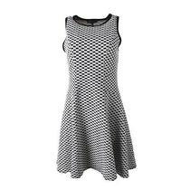 Karen Kane New B/w Pattern Sleeveless Knee-Length Wear to Work Dress M Bhfo Photo