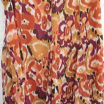 Karen Kane-rust.white.plum. Brown Printed-