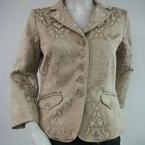 Karen Kane Tan Camel Brocade Jacket Blazer Tuscan Sunrise Size 6 New Tags Nwt Photo