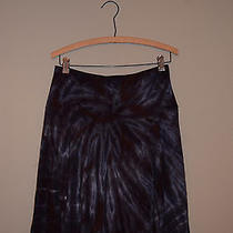 Karen Kane Tie Dye Skirt Size Small Women's Excellent Cotton Brown Blue Photo