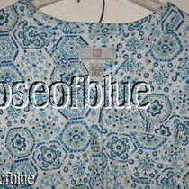 Karen Neuburger L Pajamas Set Blue Top Shirt Pants Beautiful Gramma Mothers Day Photo