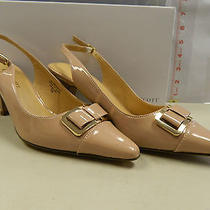 Karen Scott 7 M New Womens Newport Blush Patent Slingback Heels Shoes Photo