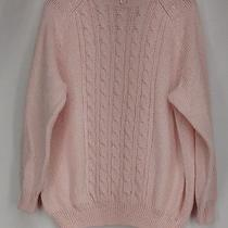 Karen Scott Plus Size Sweater 1x Cable Knit Mock Neck Blush Pink New Photo