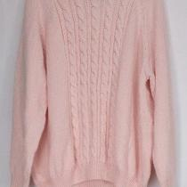 Karen Scott Plus Size Sweater 2x Long Sleeve Cable Knit Mock Neck Blush Pink New Photo