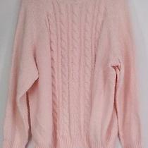 Karen Scott Plus Size Sweater 2x Long Sleeve Cable Knit Mock Neck Blush Pink New Photo