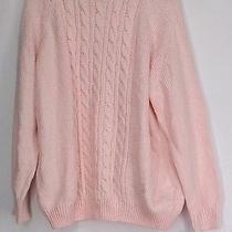 Karen Scott Plus Size Sweater 3x Cable Knit Mock Neck Blush Pink New Photo