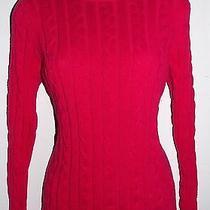 Karen Scott Sport Petites     Size   Ps   Warm Rose Blush Cable Knit Sweater Photo