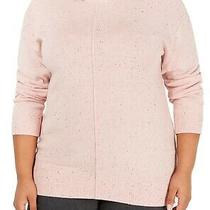 Karen Scott Women's Sweater Blush Pink Size 0x Plus Mock Neck Pullover 49 005 Photo