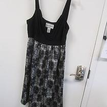 Karen Stevens Size 10 Black and White Sleeveless Dress Very Nice Photo