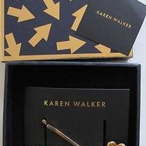 Karen Walker Flowers & Stones Hairclips Hair Pins  New in Gift Box Photo