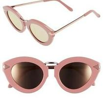 Karen Walker Nwt Lunar Flowerpatch Rose Pink Mirror Sunglasses Retail 300 Photo