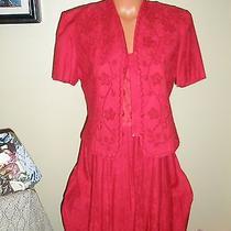 Karin Stevens Red Dress Sz 8 Photo