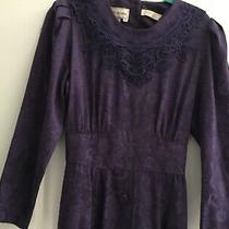 Karin Stevens Vintage Purple Brocade Print Dress Gorgeous Euc Photo