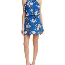 Karina Grimaldi Lulu Silk-Blend Shift Dress Women's Blue S Photo