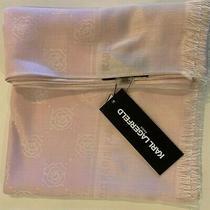 Karl Lagerfeld Paris Floral Pashmina Large Scarf - Light Blush Pink Photo