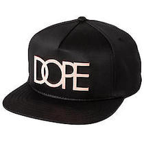 Karmaloop Dope the Rose Gold Metal Plate Snapback Black Photo