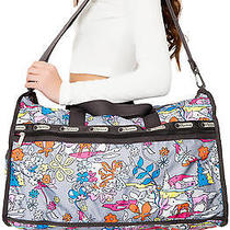 Karmaloop Lesportsac the Paint by Numbers Large Weekender Bag Multi Photo