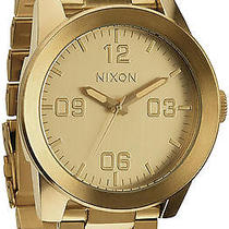 Karmaloop Nixon the Corporal Sterling Silver Watch Gold Photo