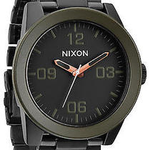 Karmaloop Nixon the Corporal Sterling Silver Watch Matte Black Photo