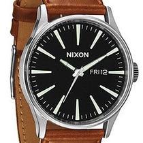 Karmaloop Nixon the Sentry Leather Watch Black Photo