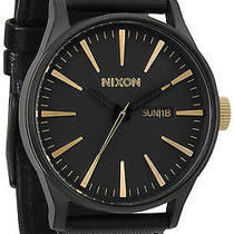 Karmaloop Nixon the Sentry Leather Watch Matte Black Photo