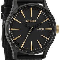 Karmaloop Nixon the Sentry Leather Watch Matte Black Photo