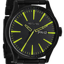 Karmaloop Nixon the Sentry Sterling Silver Watch Black Photo