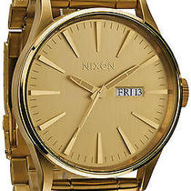 Karmaloop Nixon the Sentry Sterling Silver Watch Gold Photo