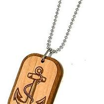 Karmaloop Swaggwood Anchor Wood Pendant Maple/brown/natural Photo