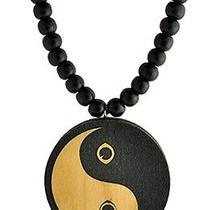 Karmaloop Swaggwood Cat Eye Yin and the Yang Wood Pendant Maple/brown/natural Photo