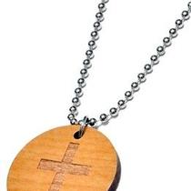Karmaloop Swaggwood Cross Pendant Maple/brown/natural Photo
