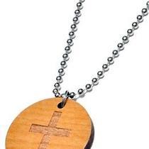 Karmaloop Swaggwood Cross Pendant Maple/brown/natural Photo