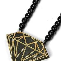 Karmaloop Swaggwood Diamond Pendant (Black and Natural) Maple/brown/natural Photo
