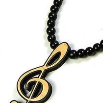 Karmaloop Swaggwood G Clef - Musical Symbol Pendant Maple/brown/natural Photo