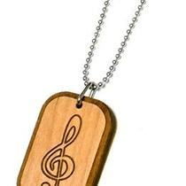 Karmaloop Swaggwood G Clef - Musical Symbol Wood Pendant Maple/brown/natural Photo