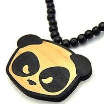 Karmaloop Swaggwood Panda Head Pendant (Black/natural) Maple/brown/natural Photo