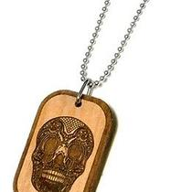 Karmaloop Swaggwood Skull Wood Pendant Maple/brown/natural Photo