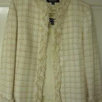 Kasper 3-Piece Suit Blazer Top & Pants. Women's Size 10. Blush Pink & Cream Photo