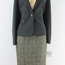 Kasper Separates Suit Set Jewel Box Mr Jacket Knit Skirt Set Black Gold 10p Lulu Photo