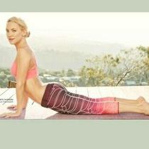Kate Hudson Fabletics Ombre Capri Salar Leggings Sz S Pink Designer Euc Photo