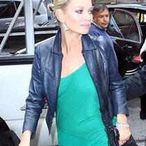 Kate Moss for Topshop Navy Blue Leather Motorcycle Jacket Xs Sm S Us 2 4 6 Uk 10 Photo