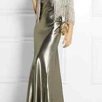 Kate Moss for Topshop Silver Fluted Silk-Blend Dress Size Us 6 - Sold Out Photo