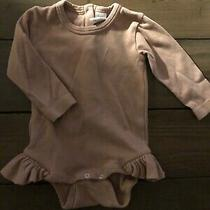 Kate Quinn Organic Blush Pink Ruffle Baby Girl Bodysuit 12-18m Photo